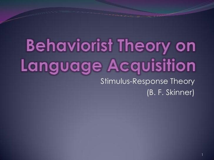 Behaviorism (Linguistics)