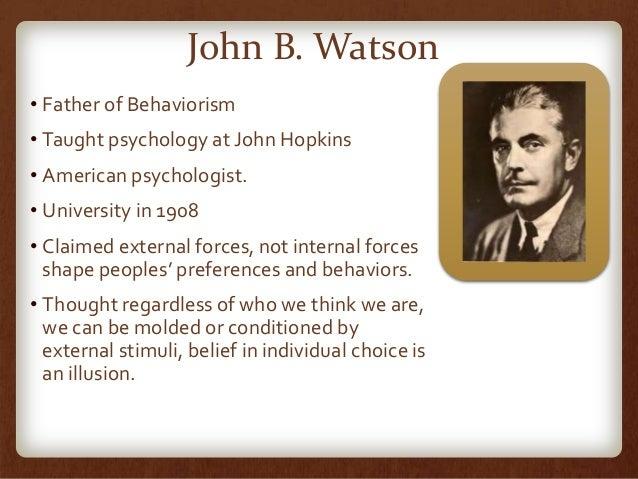 "biography of john b watson essay The life of john b watson essay alongside shaftesbury, locke aided in ""business, political, and domestic matters"" (""john locke – biography""."