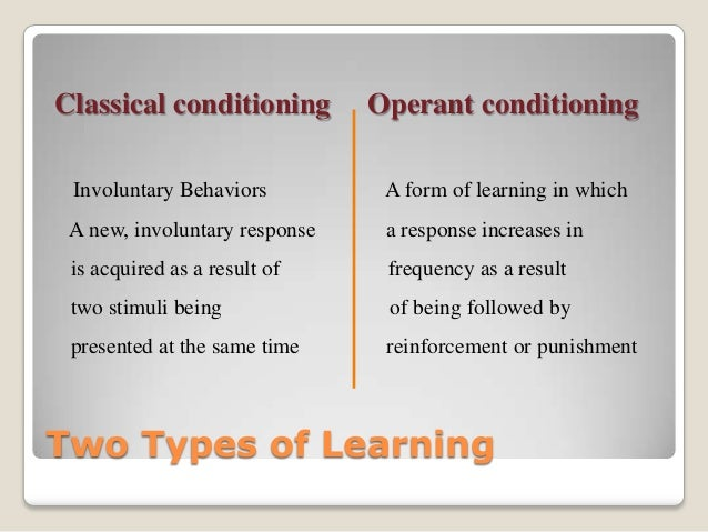 operant conditioning paper