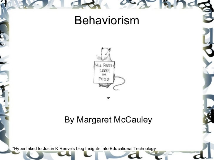 Behaviorism mc cauley