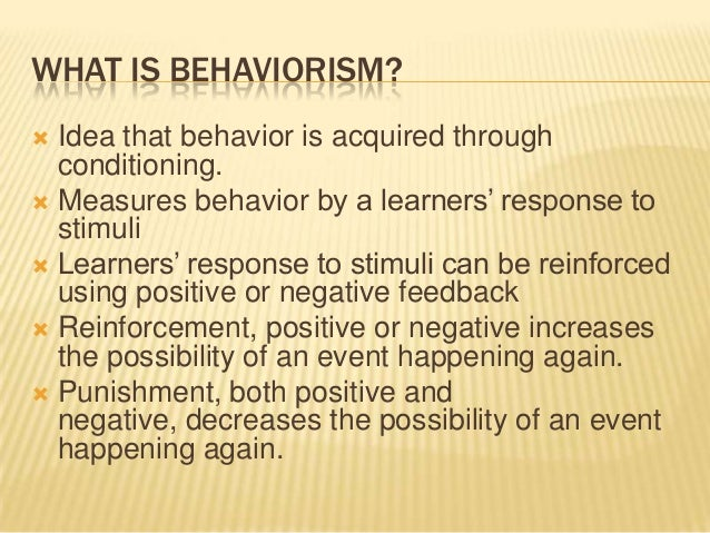 behaviorist theory essay Behaviorist paradigm and the cognitive theory of learning essays: over 180,000 behaviorist paradigm and the cognitive theory of learning essays, behaviorist paradigm.
