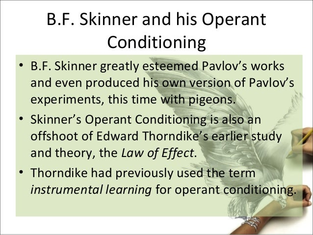 an analysis of the classical conditioning and operant conditioning learning methods Studies on classical conditioning resulted to the emergence of other theories that may explain behavior and learning, and one of these is operant conditioning.