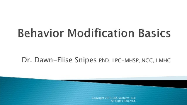 Dr. Dawn-Elise Snipes PhD, LPC-MHSP, NCC, LMHC Copyright 2013 CDS Ventures, LLC All Rights Reserved.