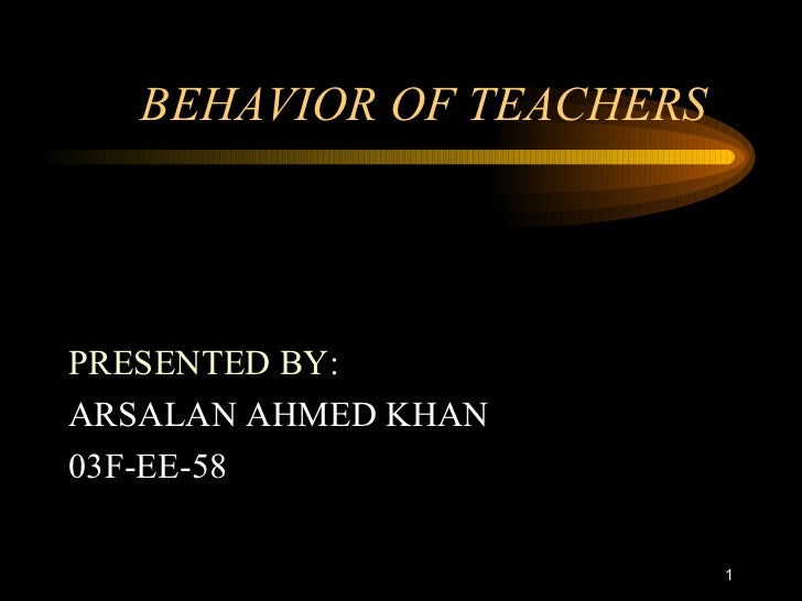 Behavior of teachers