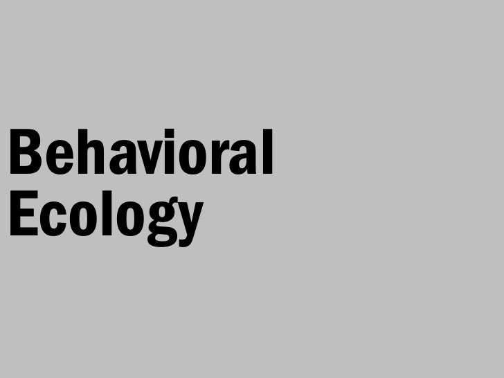 BehavioralEcology