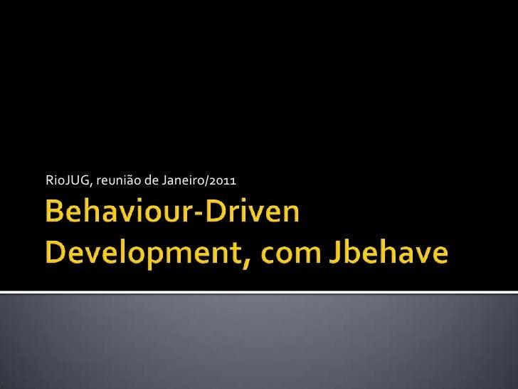 Behaviour driven development, com jbehave