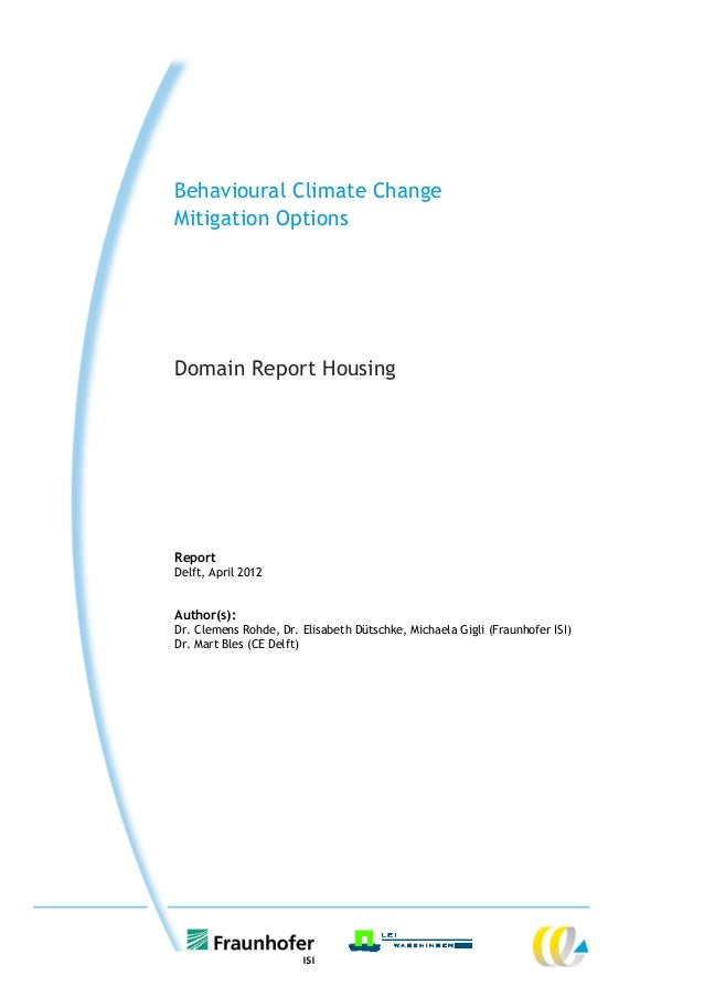 Behavioural climate change