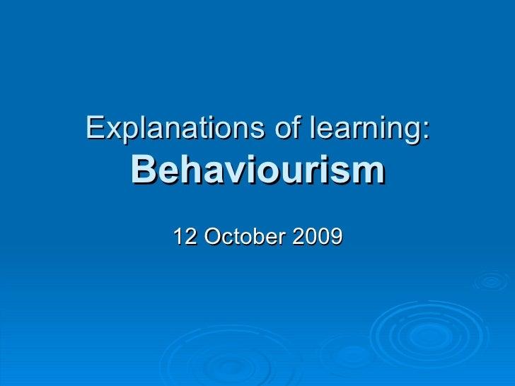 Behaviourism