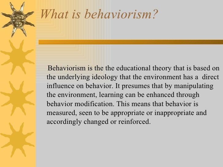 ivan pavlov behaviorist theory pdf