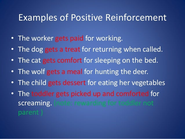 operant conditioning: positive and negative reinforcement essay Positive reinforcement is a technique used to increase desired behavior and is used in operant conditioning positive reinforcement is offering of desirable effects or consequences for a behavior with the intention of increasing desired behavior.