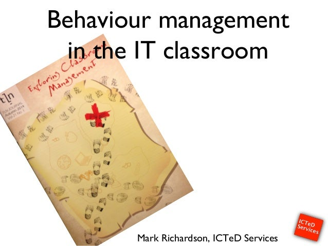 Behaviour management in the IT classroom