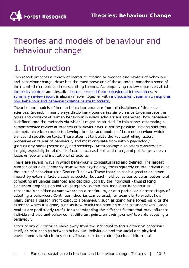 models and theories of change review