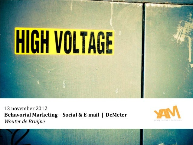 Behavorial marketing From a SocMed perspective