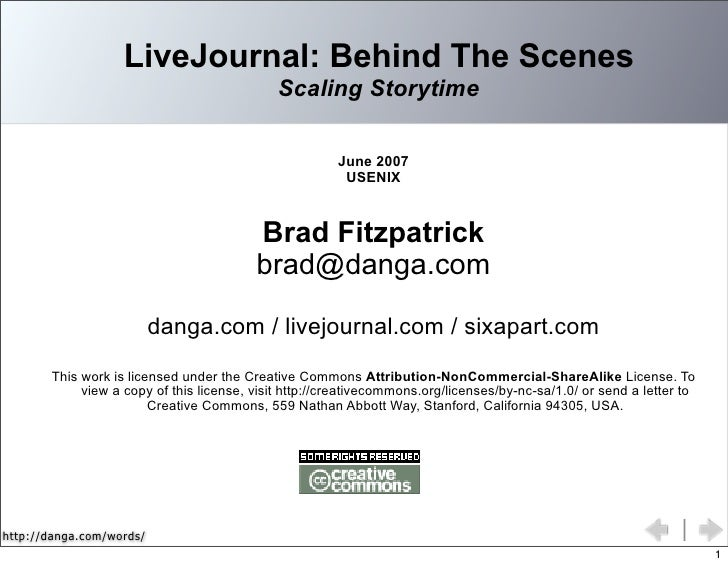 Behind the Scenes at LiveJournal: Scaling Storytime
