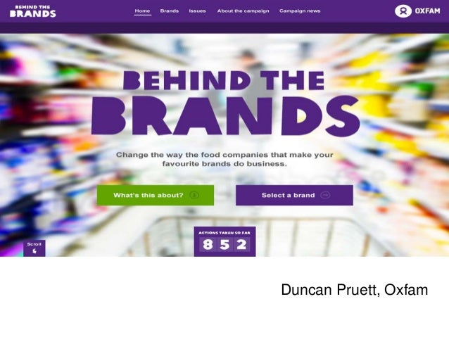 Duncan Pruett, Oxfam