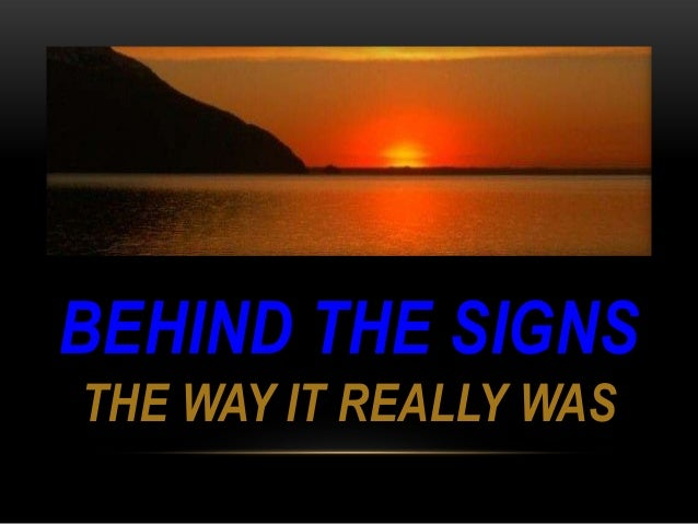 Behind the Signs–Release