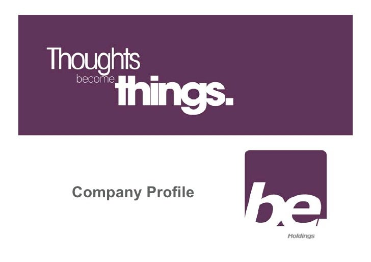 Be Holdings Profile Web
