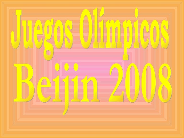 Juegos Olímpicos Beijin 2008
