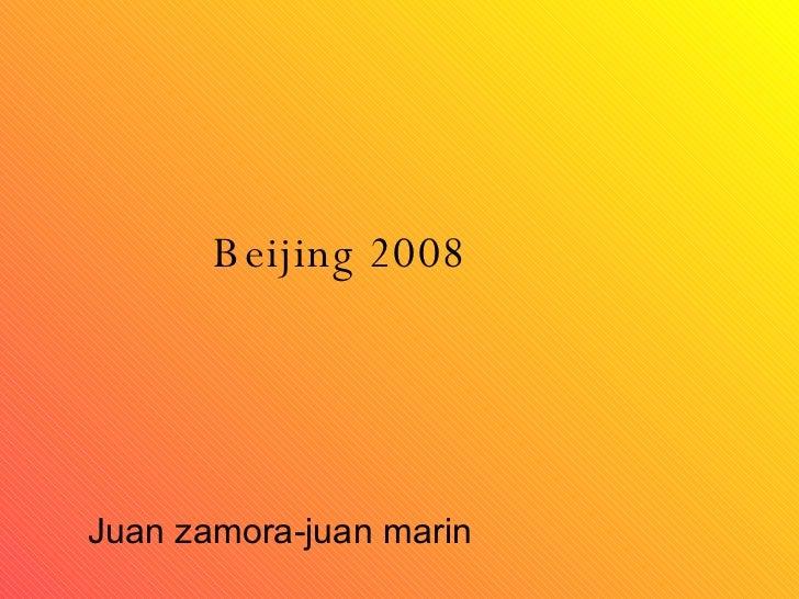 Beijing 2008 Juan zamora-juan marin