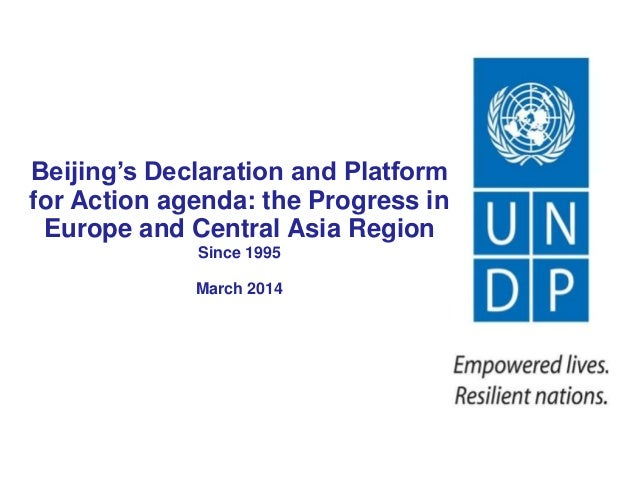 Beijing's Declaration and Platform for Action agenda: Progress in Europe and Central Asia
