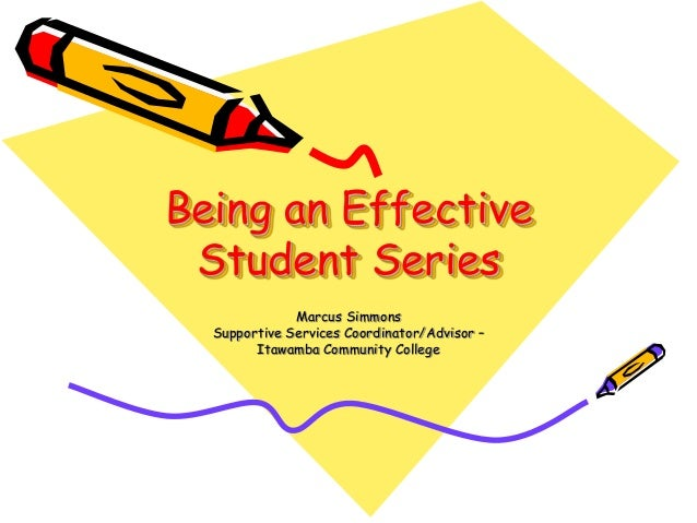 Being an Effective Student: Taking Notes