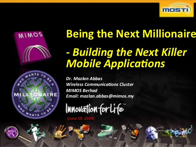 "Being&the&Next&Millionaire                                  !""Building""the""Next""Killer""                                  M..."