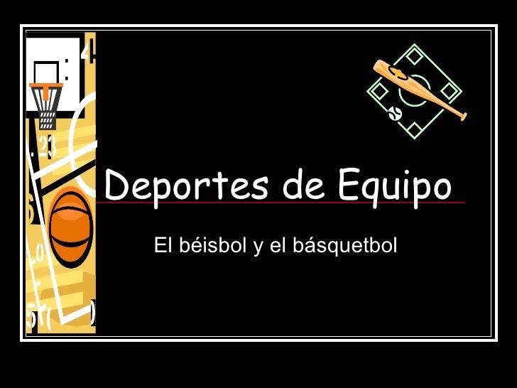 Beisbol Y Basquetbol