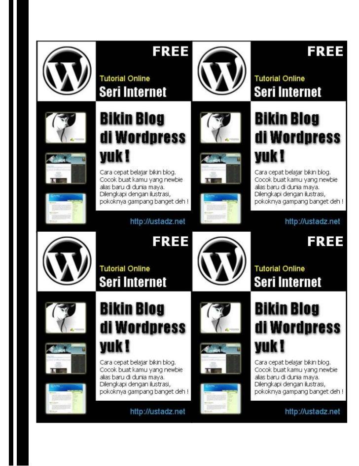Bikin Blog di Wordpress Yuk !                                              Apa sich Blog itu?                             ...