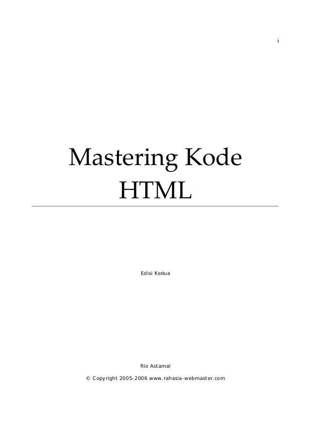 Belajar kode html