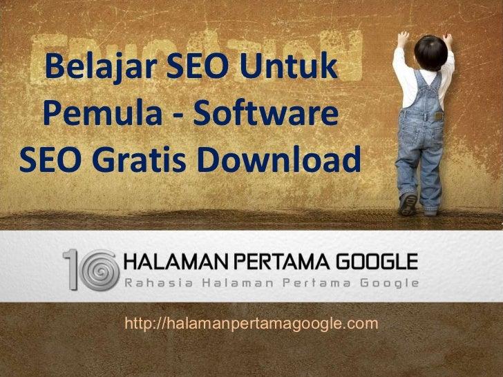 Belajar seo website untuk pemula di halaman pertama google