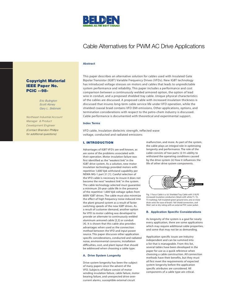Belden Ieee Paper On Vfd Cables