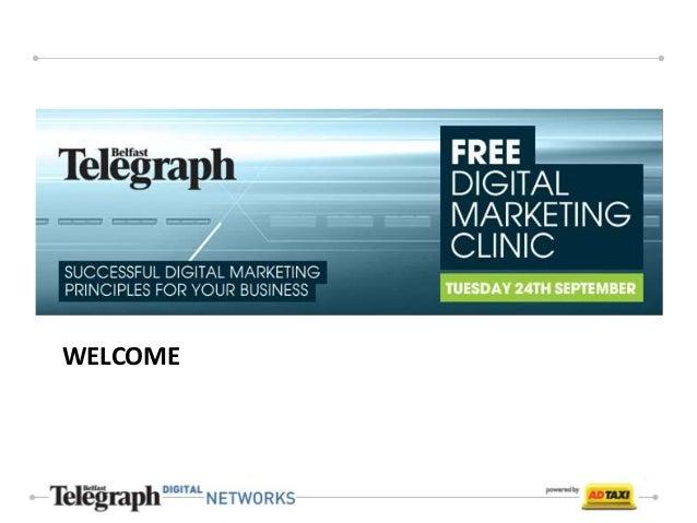Belfast Telegraph Digital Clinic Tues 24th Sept 2013