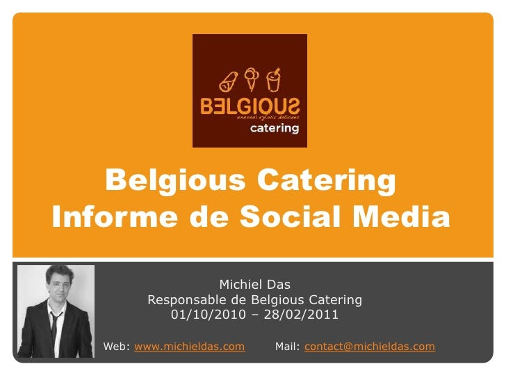 Belgious Catering Informe de Social Media (ES)