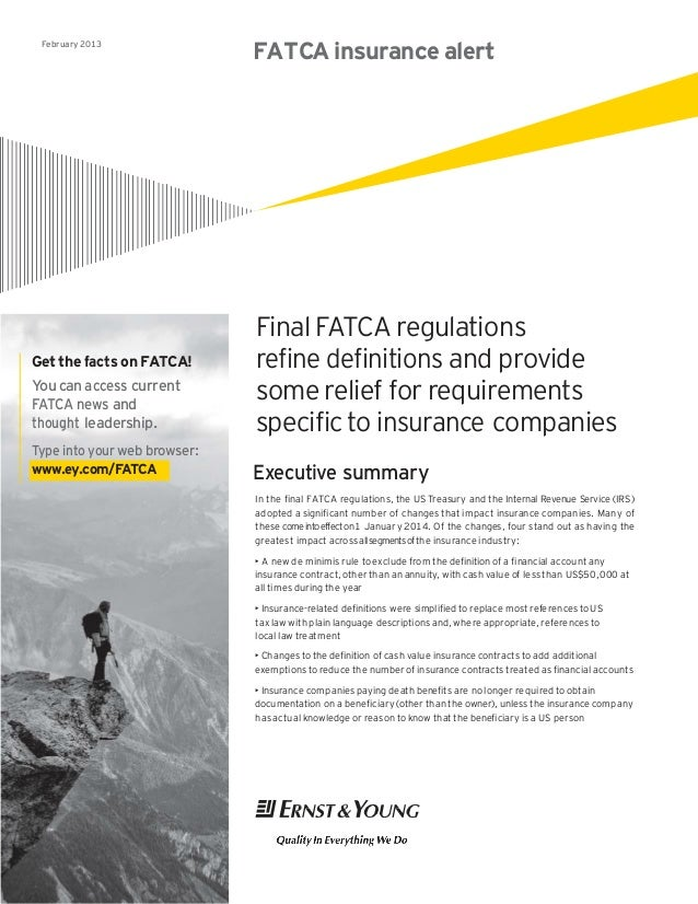 FATCA Insurance alert