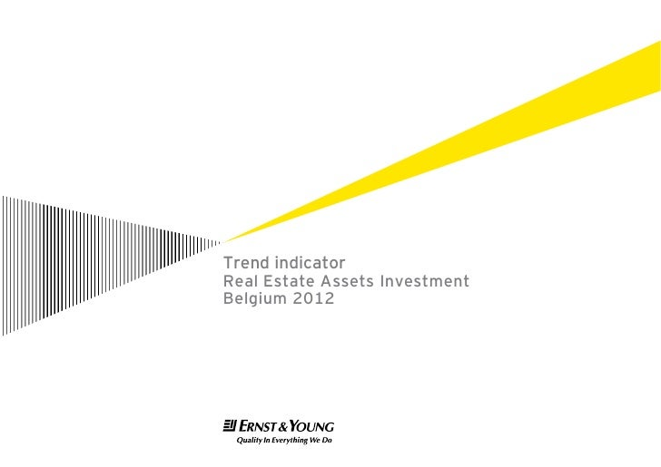 Belgium real estate trend indicator 2012