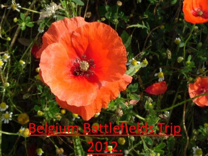 Belgium Battlefields Trip        2012.