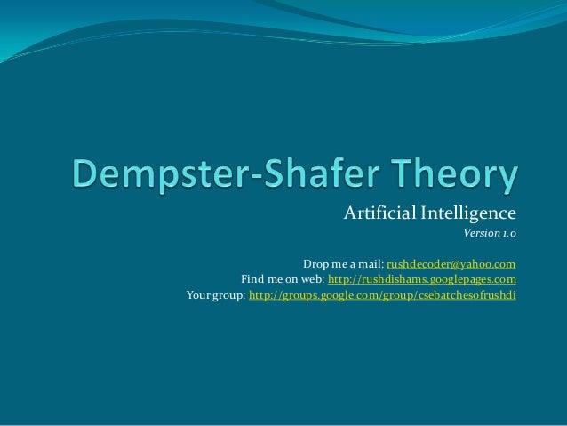 Artificial Intelligence Version 1.0 Drop me a mail: rushdecoder@yahoo.com Find me on web: http://rushdishams.googlepages.c...