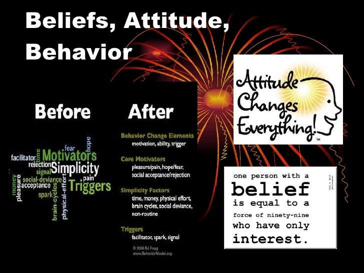 Beliefs, Attitude, Behavior