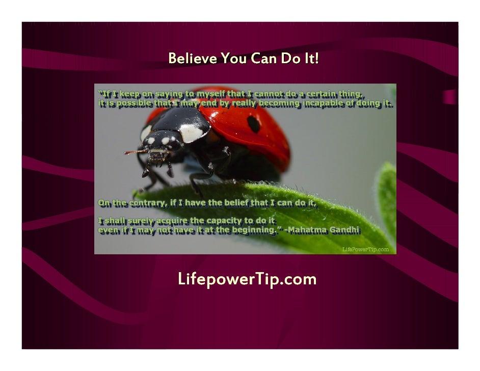 Believe You Can Do It! LifepowerTip.com