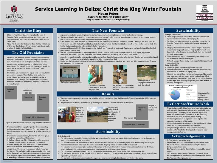 Service Learning in Belize: Christ the King Water Fountain