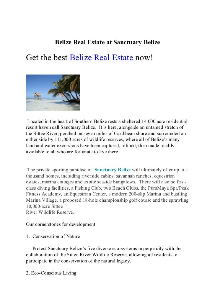 Belize Real Estate at Sanctuary BelizeGet the best Belize Real Estate now! Located in the heart of Southern Belize rests a...