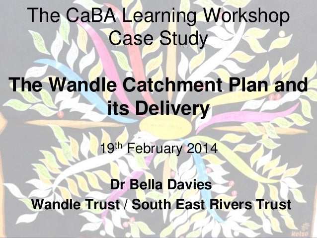 The CaBA Learning Workshop Case Study The Wandle Catchment Plan and its Delivery 19th February 2014 Dr Bella Davies Wandle...