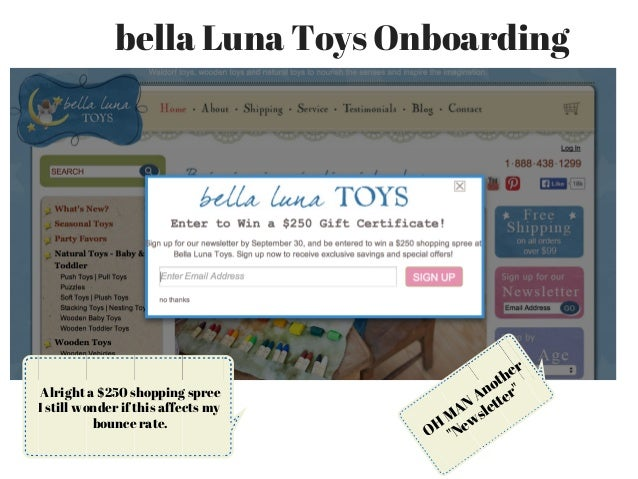 How bella Luna Toys Onboards New eCommerce email Customers