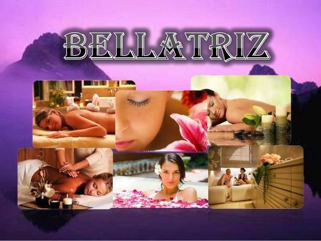 Nos encargaremos de cuidar sus mas íntimos intereses, con una variedad de increíbles servicios que brindara Bellatriz Spa....