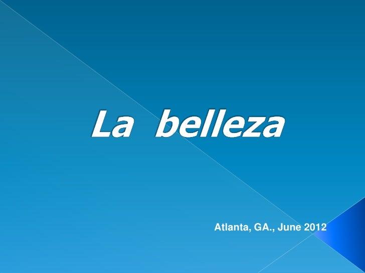 Atlanta, GA., June 2012