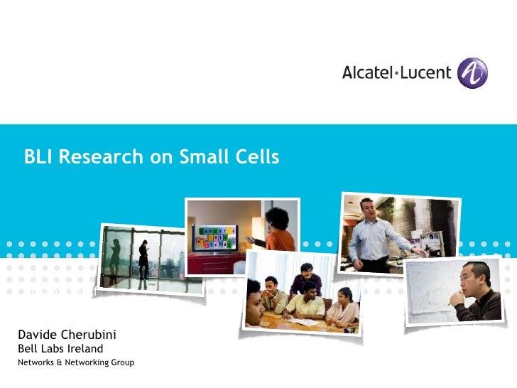 Bell Labs Ireland research on small cells [Davide Cherubini]