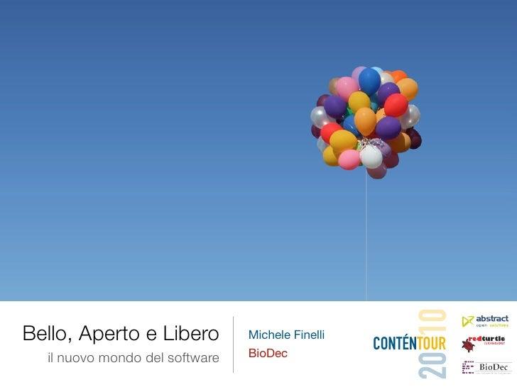 20 10 Bello, Aperto e Libero          Michele Finelli                                                   CONTÉNTOUR   il nu...