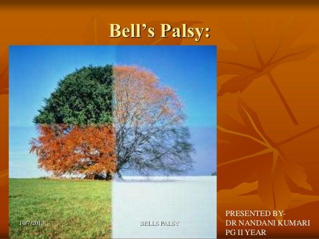 Bell's Palsy: PRESENTED BY- DR NANDANI KUMARI PG II YEAR 10/7/2013 1BELLS PALSY