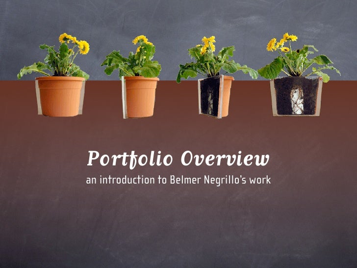 Portfolio Overview an introduction to Belmer Negrillo's work