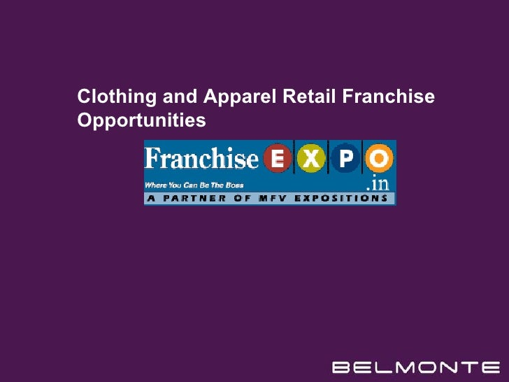 Clothing and Apparel Retail Franchise Opportunities